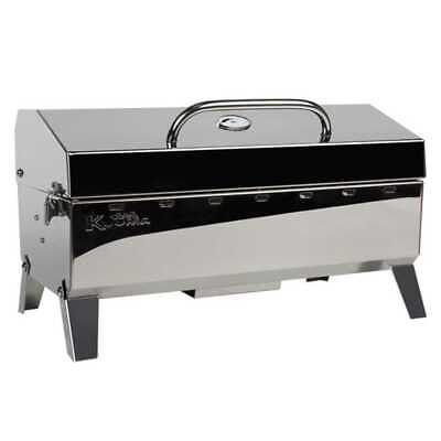 Kuuma Stow N Go 160 Barbecue Gas Grill 58131 Stainless Steel Marine Boat RV