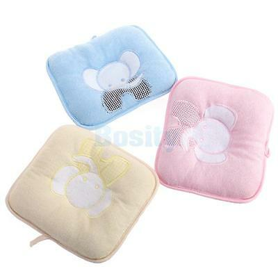Baby Infant ELEPHANT Pillow Prevent Flat Head Support Pillow Anti Roll Cushion