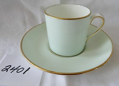 HAMMERSLEY England Cup & Saucer Coffee Can Demi Espresso pale green & gold