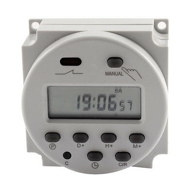 DIN Mounting Weekly Digital Programmable Timer AC 250V Time Switch CN101A