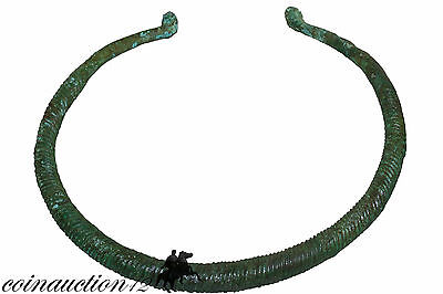 Museum Quality Celtic Bronze Age Torc Necklace 2500-1500 Bc