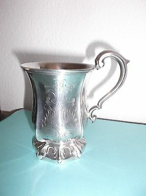 Antique 19th Century American Silverplate Presentation Cup by PGS, Inscribed