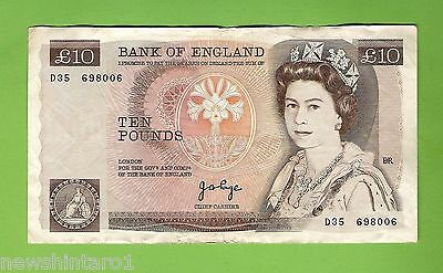 Great Britain  Circulated  Ten Pound Banknote, 1970-1977  Issue