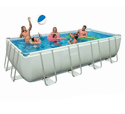 Intex 18ft x 9ft x 52in Ultra Frame Swimming Pool Sand Filter ladder cover 28352