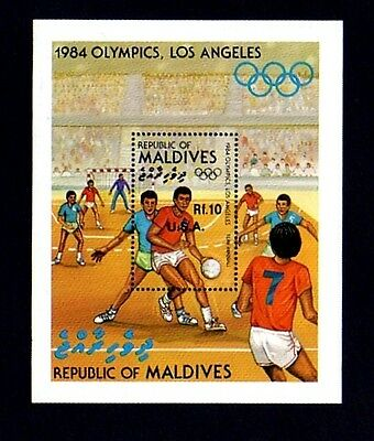 Maldives - 1984 - Olympics - Team Handball - Winners - Usa - Mint S/sheet!