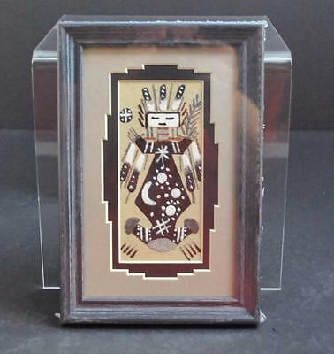 Native American Indian Authentic Sandpainting COA By Marlene Doby Navajo