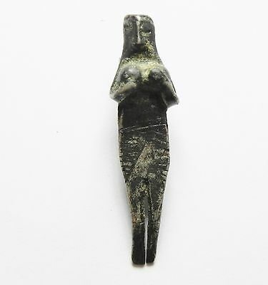 Zurqieh - Ancient Byzantine Or Earlier? Silver Statuette As A Pendant, 600 A.d?