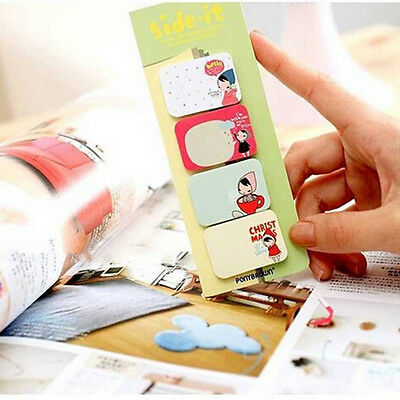 Classic Stationary Side Sticker Memo Pad Sticky Notes Office School Supply TBCA