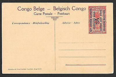 Belgian Occupation East Africa covers 15c ovpt PPC not sent