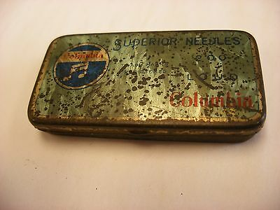 Phonograph Victrola Gramophone Needle Tin - Columbia - Unusual Size
