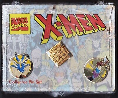 MARVEL COMICS X-MEN COLLECTOR PIN SET NEW WITH 3 PINS