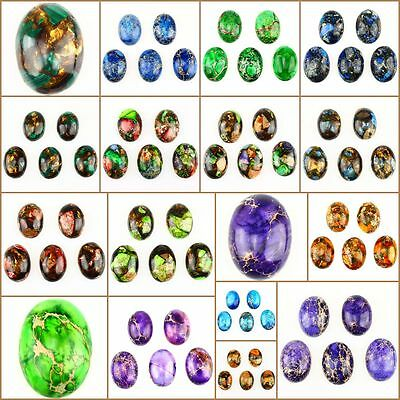 25x18mm Oval flatback Cabochon CAB Ring Face Gemstone Jasper Accessory Wholesale