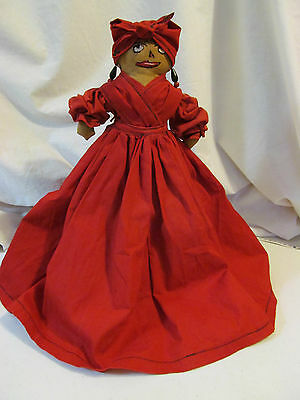 Vintage Hand Made Black Mammy Toaster / Appliance Cover Doll