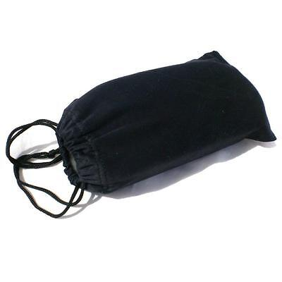 5 x BLACK CLOTH SUNGLASSES CASES Protective Soft Drawstring Pouch Case NEW