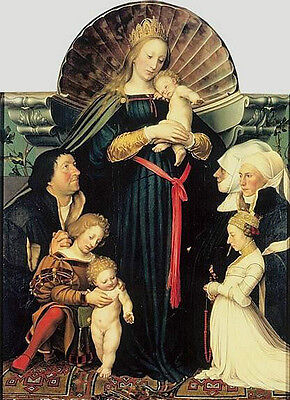 Oil painting Darmstadt Madonna with children with Saints free shipping cost
