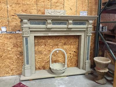 Beautiful Hand Carved Granite Estate Fireplace Mantel  - Jd16