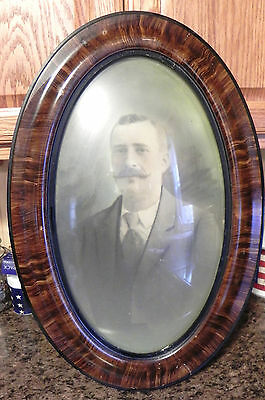 Estate=Vintage over 100 Year old Grandpa In Bubble Oval Frame Spectacular LOOK