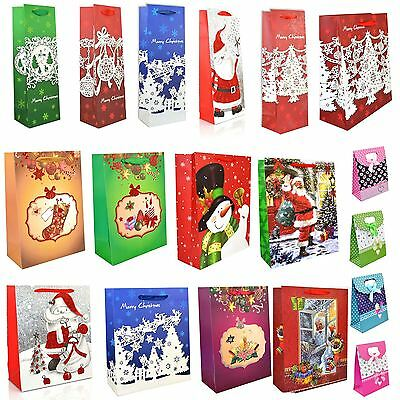 Christmas Gift Bags Luxury Style Multicolor Small Medium Large All Occasions