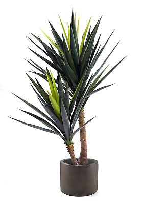 Best Artificial 120cm 4ft Double Yucca Palm Plant Tree Tropical Conservatory New