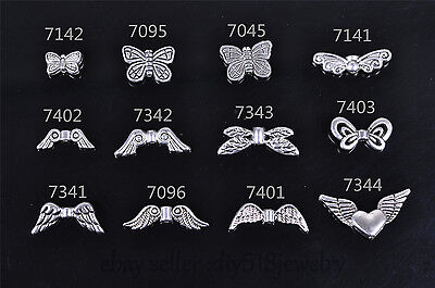 20s bee angel wing spacer end bead Charms Tibet silver plated diy jewelry making