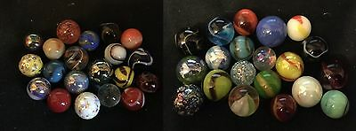 HOM Glass Marbles 20 x all different stunning collectable marble 14m 16mm 2 sets