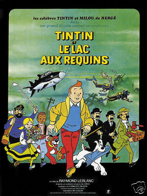 Tintin et le lac aux requins 1972 Movie poster print