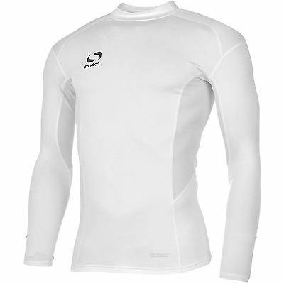 Sondico Mens Base Layer Mock Top Long Sleeve Compression Fit Sports Sweatshirt
