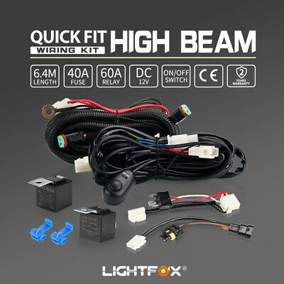 【20%OFF】2 Way Wiring Loom Kit LED HID Spot Work Driving Light Bar 12V 40A Relay