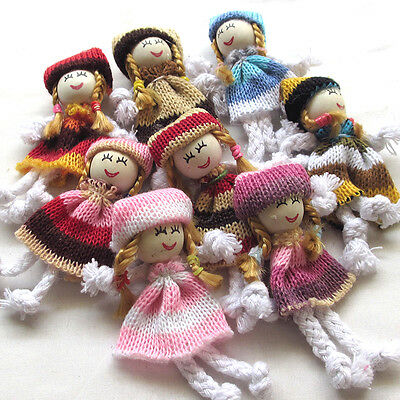 8/24PCS Girl Doll Crochet Appliques Wedding Decor Craft Mix A0446