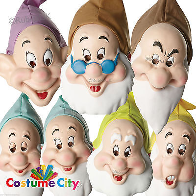 Adults Official Disney Seven Dwarves Mask Snow White Fancy Dress Costume