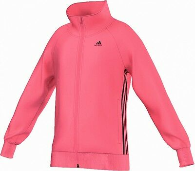 adidas Mädchen Sport Trainings Jacke Wardrobe Polyester Tack Top pink
