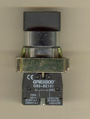 Greegoo GB2-BD33 3-Position Maintained Selector Switch w/ 2NO Contact Blocks xb2