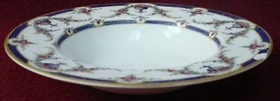 ROYAL WORCESTER china ROSEMARY DARK BLUE pattern Rim Soup or Salad Bowl @ 8/""