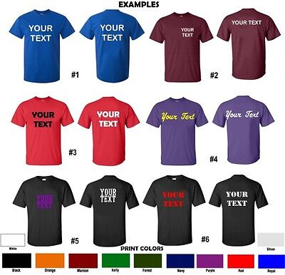 CUSTOM T-Shirt Personalized S-5XL ANY COLOR Your Text Name Print Customized New!