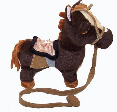 DARK BROWN REMOTE CONTROL WALKING HORSE WITH SOUND battery operated toy pony