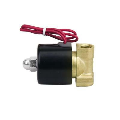 """AC 220V 1/4"""" Inch Electric Solenoid Valve for Water Air Gas Normally Closed New"""