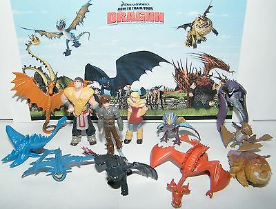 How to Train Your Dragon Figure Set of 12 w/ 9 Dragons, Hiccup and More!