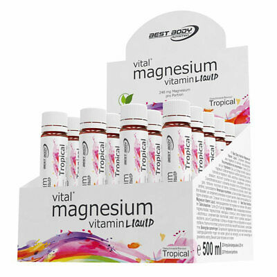 (31,90 EUR/l) Best Body Nutrition Liquid Magnesium Ampullen 20x25ml Vitamine