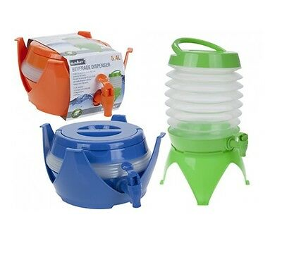 Summit Collapsible Beverage Drink Water Dispenser 5.4L Stand Up BPA Free