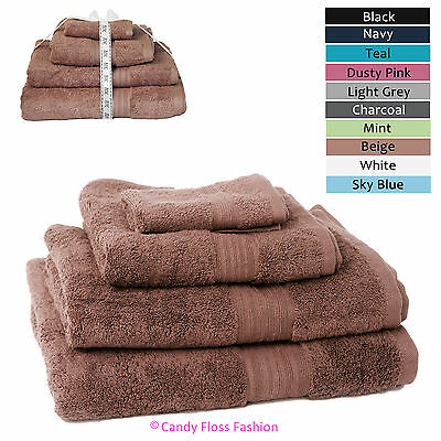 100% Egyptian Cotton Hand Face Bath Sheet Bale Luxury Pure Supersoft Towel