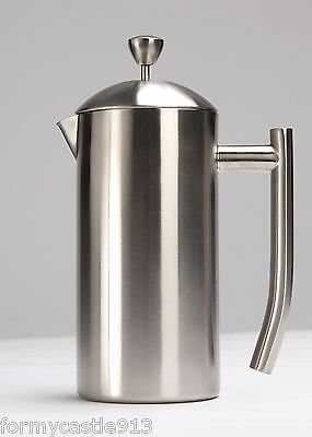 Frieling French Coffee Press Brushed Stainless Steel 9 Cup 5 US cups 44 oz