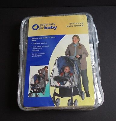 Stroller Rain Cover - Especially for Baby Strollers with Canopies (New)