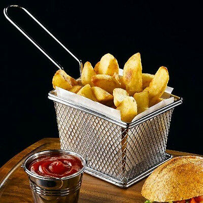 Special Stainless Steel Mini kitchen Home Fries Frying Basket Fry Chip Potato N