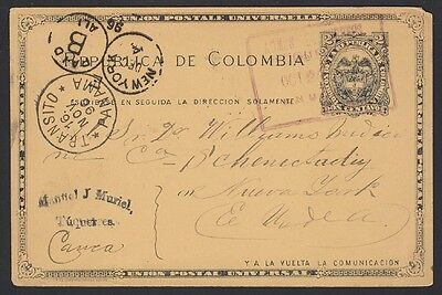 Columbia, Panama, 1896. Post Card H&G 13, Tuquerres - New York