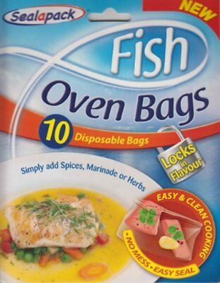 Sealapack - Fish Oven Bags - 10 Disposable Bags - No Mess Easy Seal