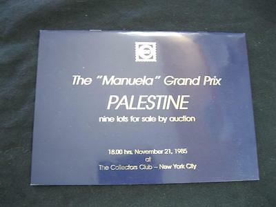 David Feldman Auction Catalogue 1985 Palestine 'manuela' Grand Prix Collection
