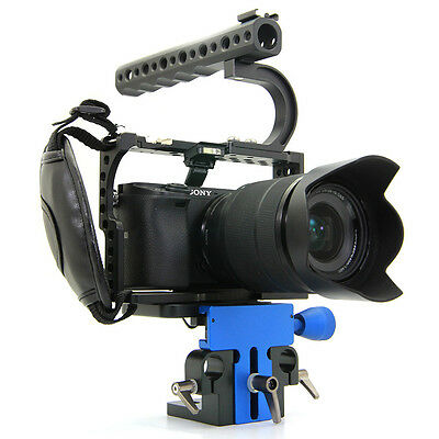 CGPro Lightweight Cage Kit With Baseplate for SONY A6300 A6500 Camera UK