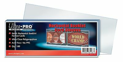 (100) Ultra Pro Horizontal Booklet Trading Card Sleeves Fits Book Card Toploads