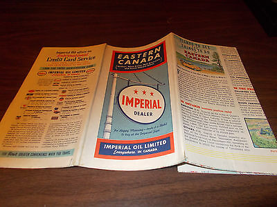 1940 Imperial Gas Eastern Canada Vintage Road Map/ Rare Map !!