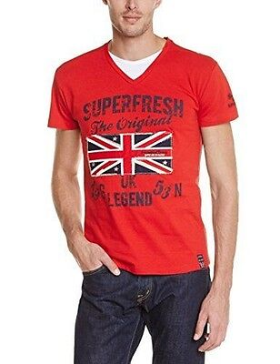 Geographical Norway Jayack T-Shirt manches courtes Homme Rouge FR : L NEUF